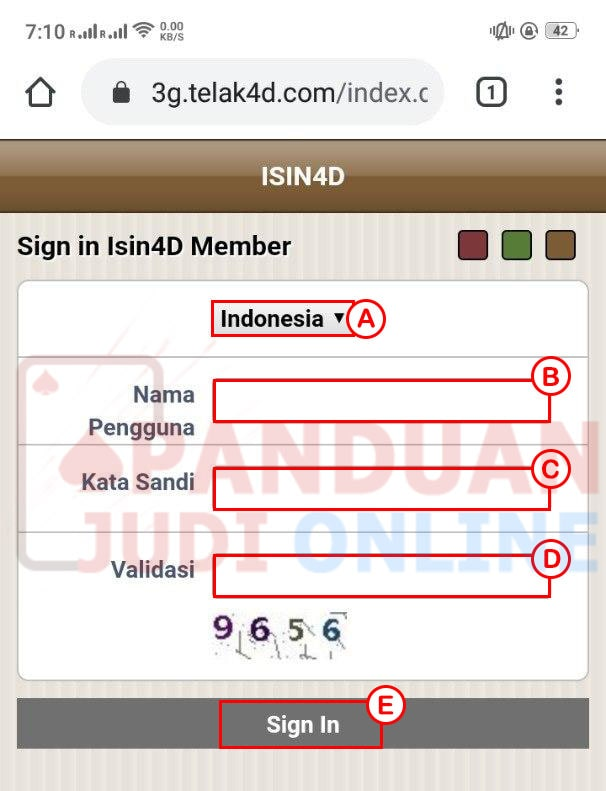 Cara Login ISIN4D via Mobile 1