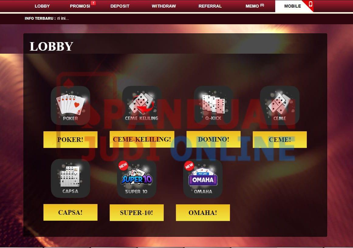Panduan Cara Login Permainan IDN Poker via Dekstop 9